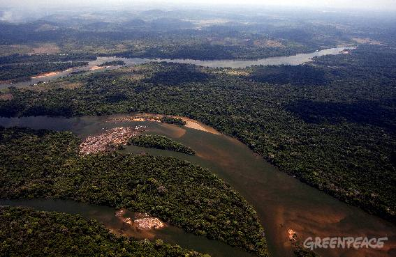 Rivière Xingu - photo Greenpeace